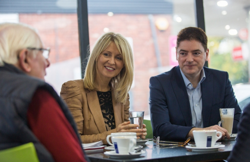 Esther McVey MP & Cllr Johnathan Brown