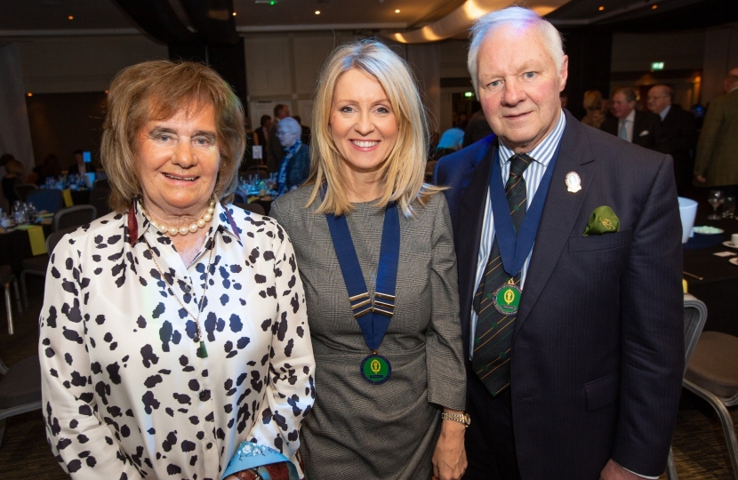 Esther with Show Chairman, Tony Garnett and wife Pamela