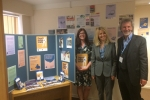 Esther with Lisa Williams, Research and Campaigns Coordinator and Geoff Hope-Terry, Chair