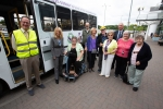 Esther with Beryl Chapman, bus users, trustees and volunteer drivers